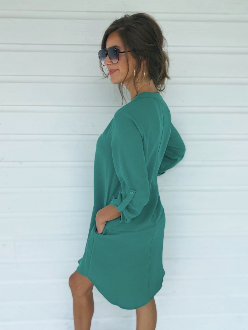 Grace Green Shift Dress