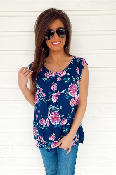 Never Ending Navy Floral Top