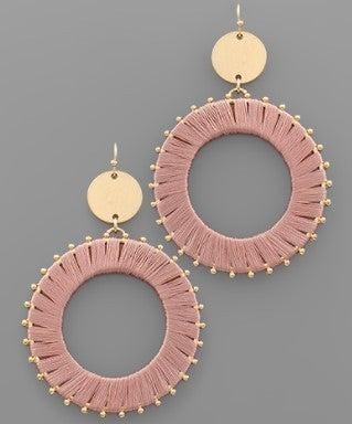 Wrap It Up Earrings- Pink