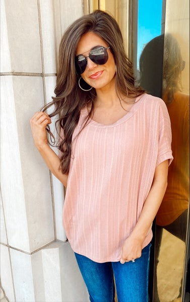 The Perfect Pink Short Sleeve Top