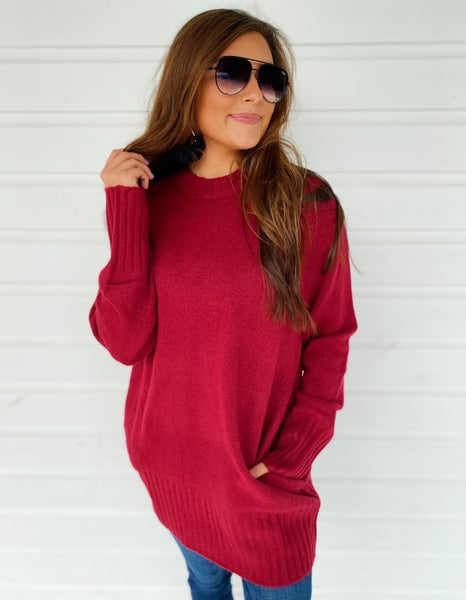 Harper Wine Sweater