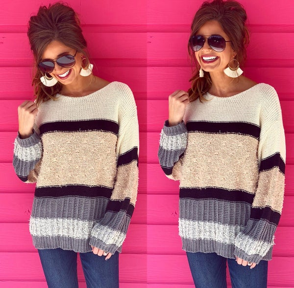 All For Color Pullover- Taupe