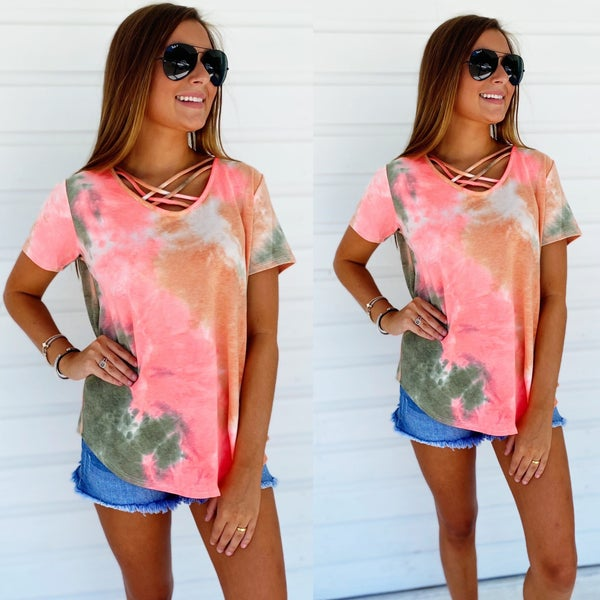 Watermelon Criss Cross Top