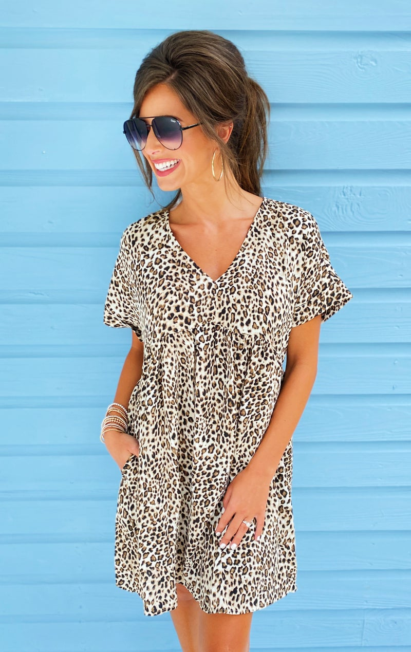 Almost There Animal Print Dress