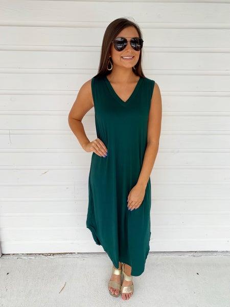 Macie Maxi Dress- Hunter Green