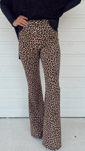 Charlie Cheetah Print Flares