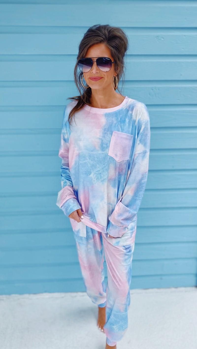 Claire Tie Dye Set- Cotton Candy