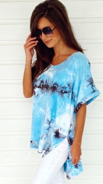 Blue Skies Tie Dye Top