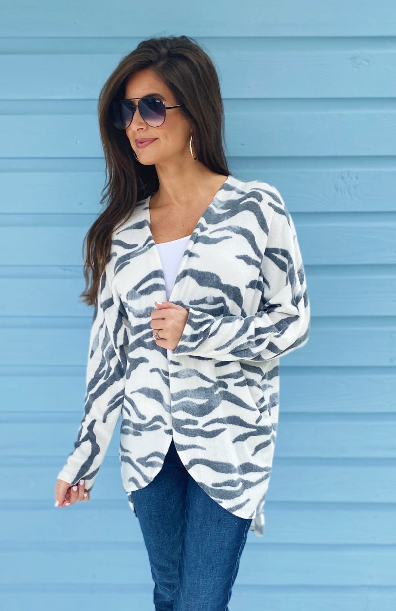 Zest For Life Zebra Cardigan