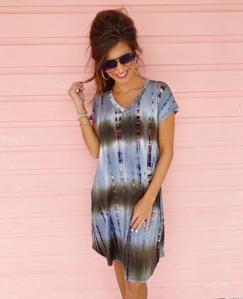 Olivia Olive Tie Dye Dress