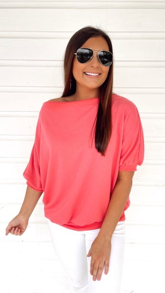 Basically Fabulous Coral Top