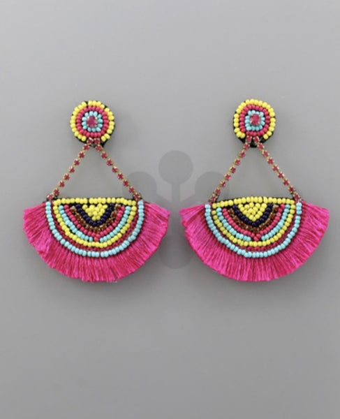 Feeling Fiesta Pink Earrings