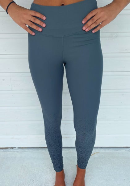 Metallic Spotted Leggings- Green