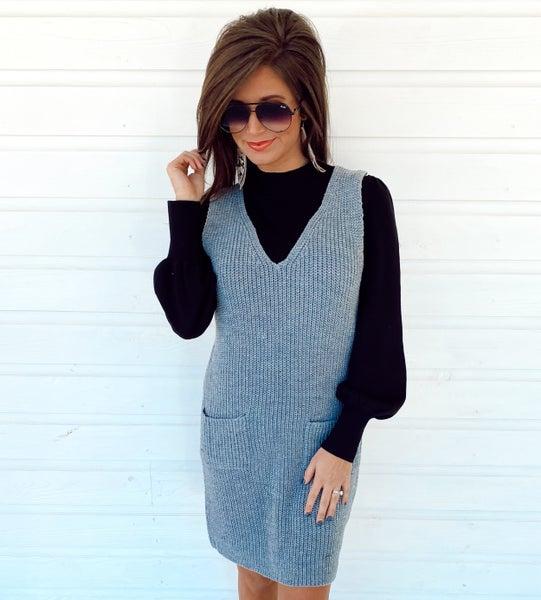 Get Away Grey Sleeveless Dress