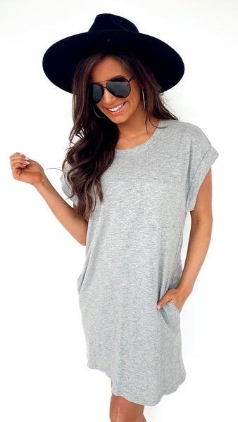 Greyson Front Pocket Tee Dress