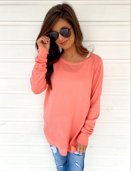 Out on the Town Coral Sweater