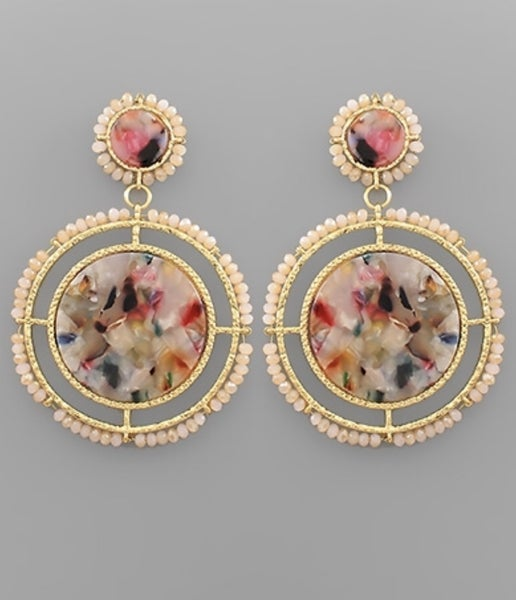 With Love Light Pink Circle Earrings