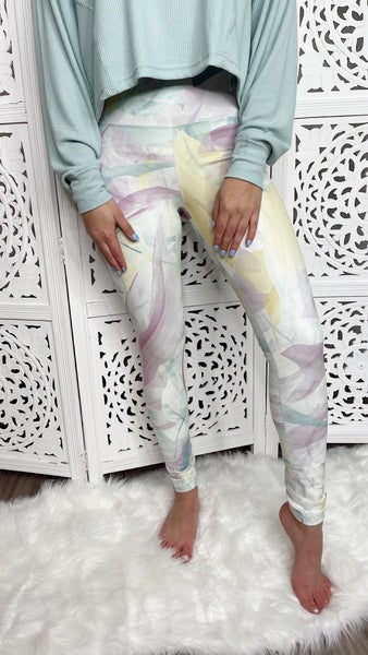 Full Of Joy Leggings- Cream Mix