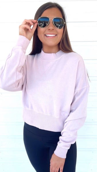 Magical in Lavender Cropped Pullover