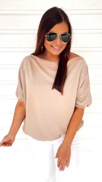 Basically Fabulous Taupe Top