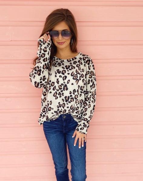 Lacy Leopard Top *Final Sale*