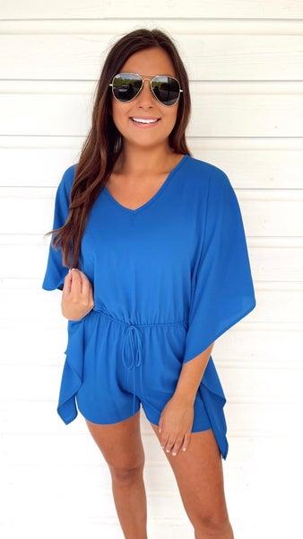 Pretty Persian Blue Romper
