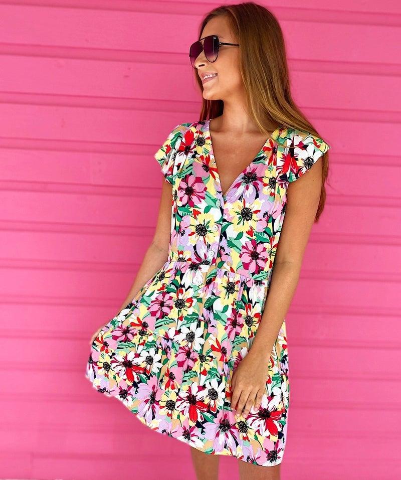 Island Floral Dress
