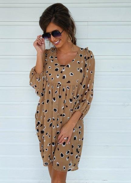 Angela Animal Print Dress