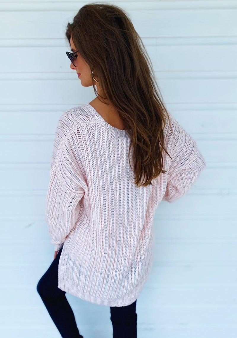 Thank Me Later Blush Sweater