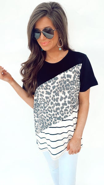 Wild About Animal Print Top
