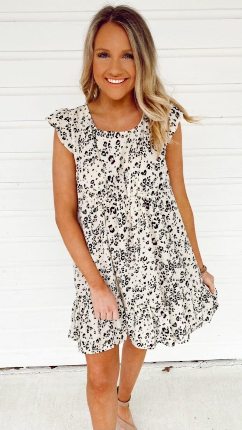 Carson Cream Animal Dress