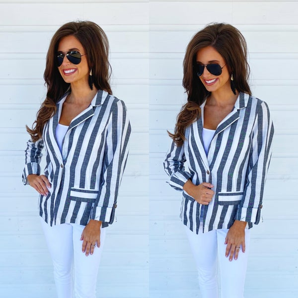 In My Element Striped Jacket