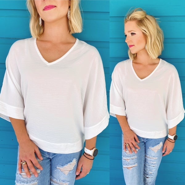 Downtown Vibes Top- White
