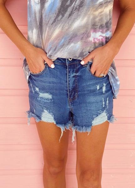 Emma Distressed Denim Shorts