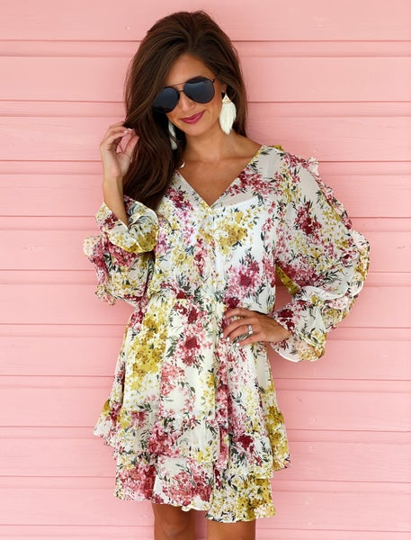Innocent In Florals Dress