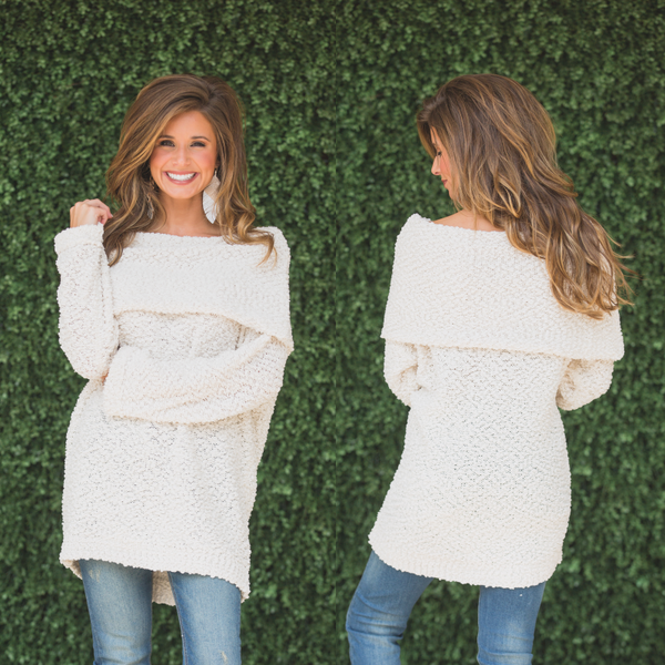Cozy Clouds Sweater- Ivory