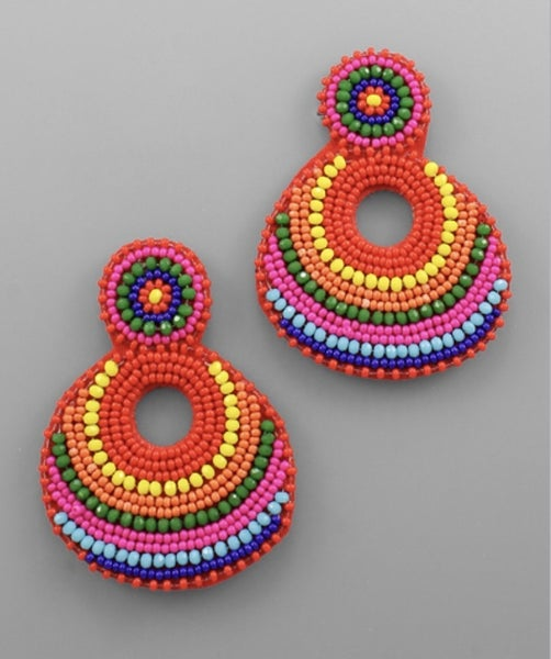 Brighter Days Ahead Beaded Earrings