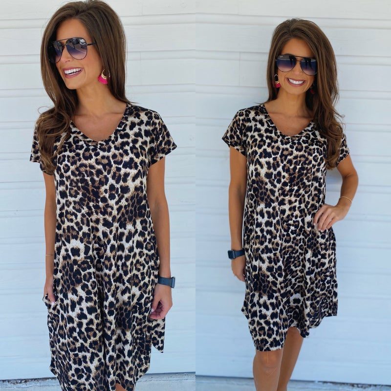 Stay Busy Cheetah Dress