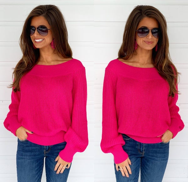 Hillary Hot Pink Sweater