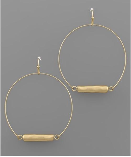 Charming Gold Circle Earrings