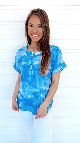 Beach Blues Tie Dye Top