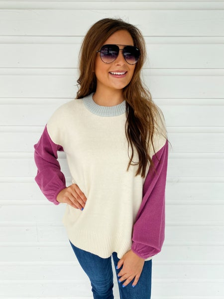 Gia Color Block Sweater