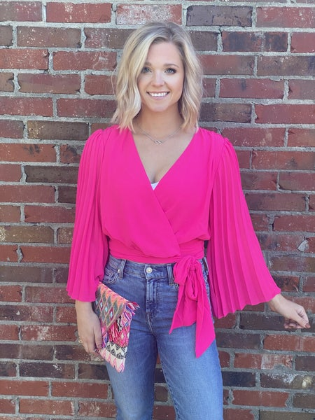 Eyes on You Hot Pink Top