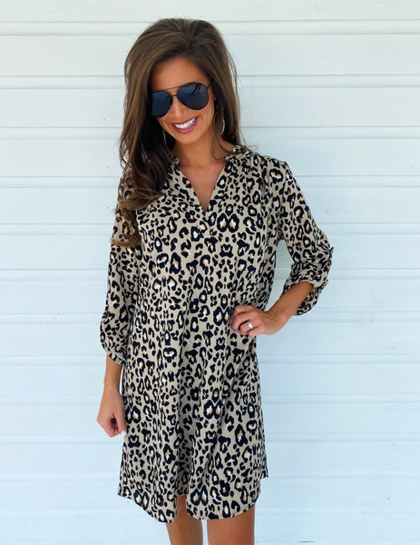 Can't Tame Her Leopard Print Dress