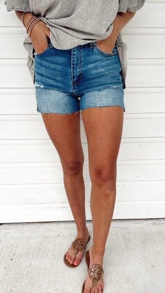 Caroline Cut Off Denim Shorts