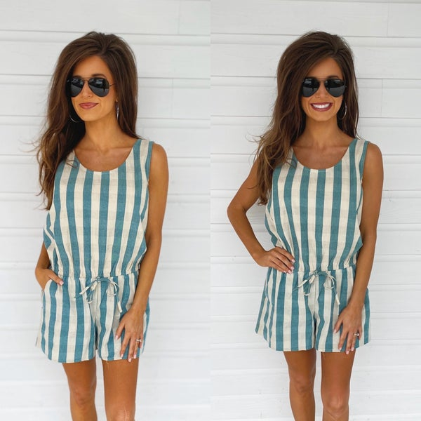 Have Some Fun Lagoon Striped Romper