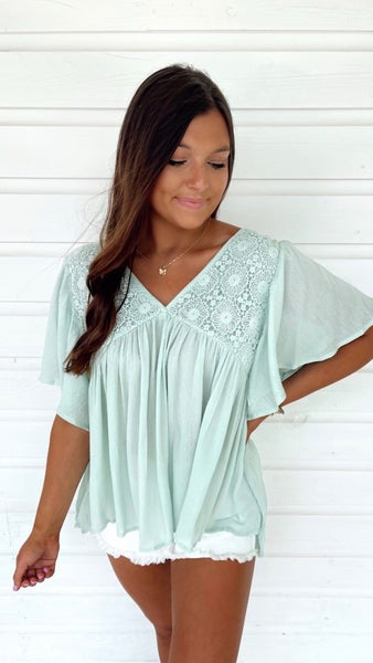 Sweet Intentions Mint Top
