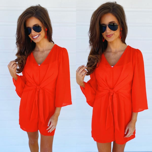 Let's Talk Tomorrow Red Romper