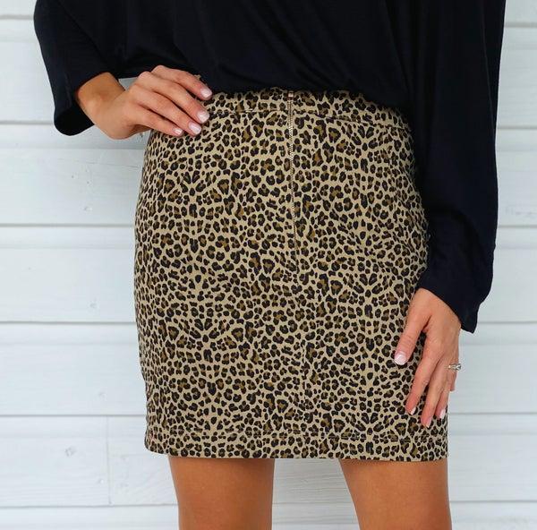 Bella Brown Cheetah Skirt
