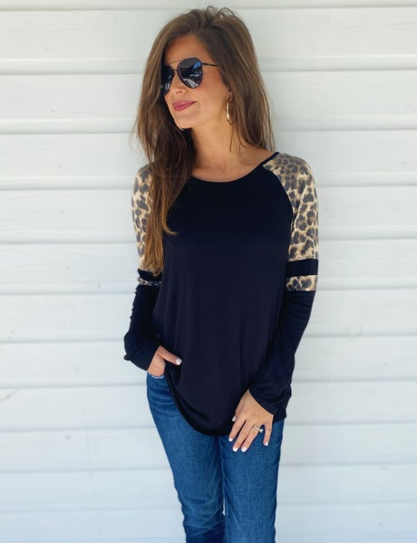 The Best Black Leopard Top *Final Sale*
